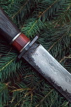 Load image into Gallery viewer, fixedblade premium damascus steel Jungle outdoor knife