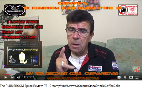 CarpVaper TV in the UK reviews 15 flavors from TPR!