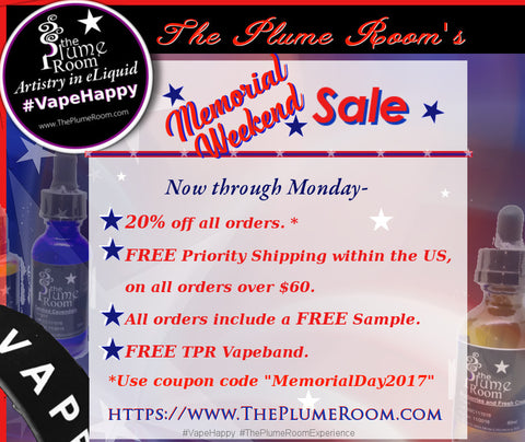 The Plume Room's Memorial Weekend Sale