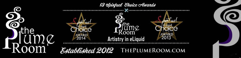 Award winning eliquid from The Plume Room