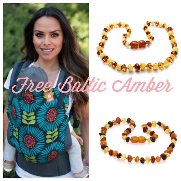 Tula Carrier Amber Teething Necklace Promo