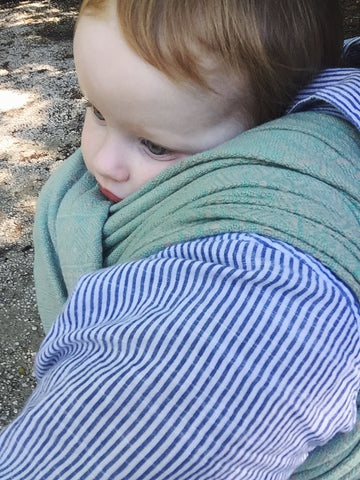 Didymos Rosmarin Extra Wide Indio action shot by Purple Elm Baby