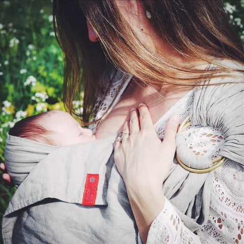 Nursing in s ring sling