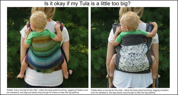 Is it ok if my Tula is a little too big photograph