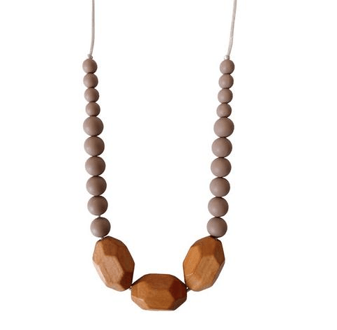 Austin Taupe Teething Necklace