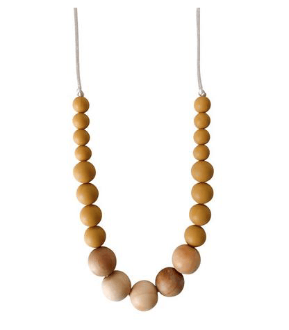 Landon Mustard Teething Necklace