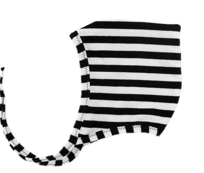Black & White Stripe Pixie Hat