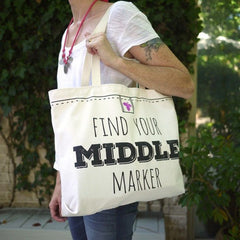 Middle Marker Shoulder Tote