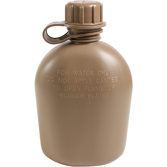 Outpost Select - Genuine GI 3 Piece 1 Quart Canteen (Plastic) USA Made