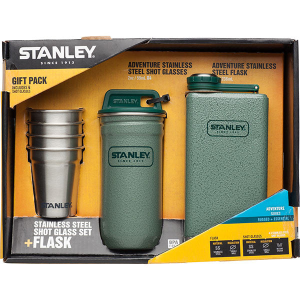STANLEY - ADVENTURE HIP FLASK + SHOT SET