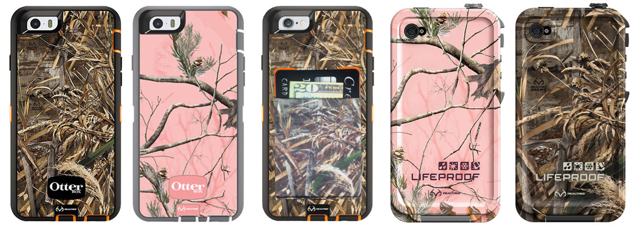 Otterbox and Lifeproof cases featuring Realtree Camouflage