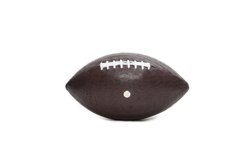 America Football, Brown Croc Embossed Lambskin