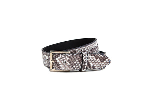 Bari Belt, Salt N Pepper Snakeskin