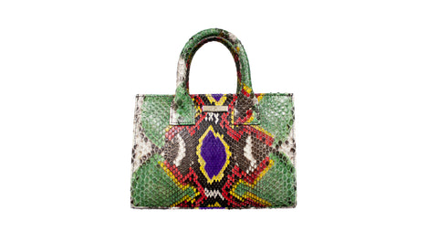 Belgravia Mini Tote, Fairy Dust Snakeskin