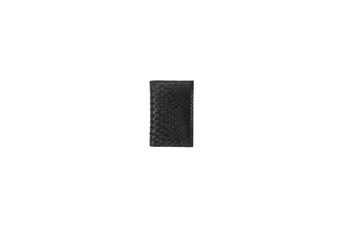 Burbank Card Holder, Black Snakeskin