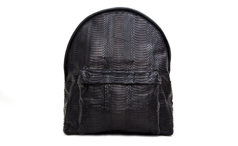 The Andes Backpack, Matte Black Whipsnake
