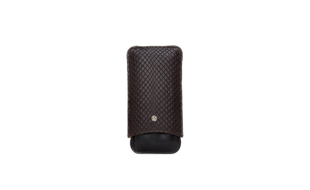 Bahia Cigar Case, Brown Boa