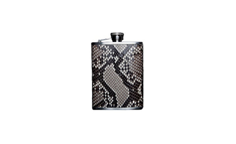 Dublin Flask, Natural Snakeskin