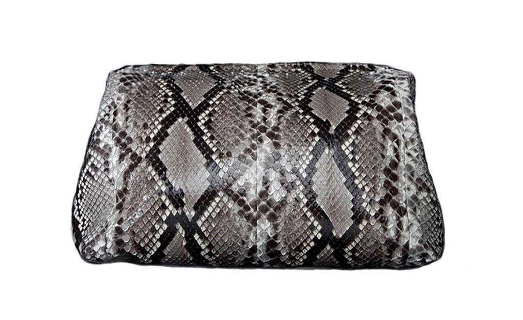Large Greenland Clutch, Natural Snakeskin