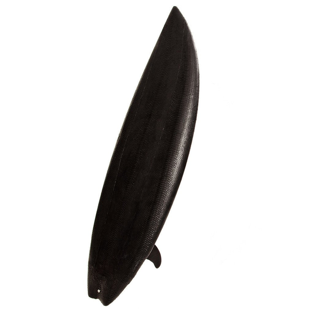Jeffrey's Bay Surfboard, Matte Black Snakeskin