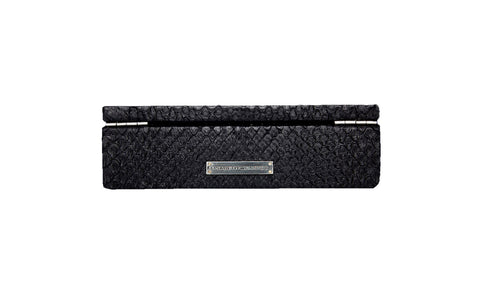Manchester Cufflink or Jewelry Box, Matte Black Boa