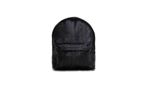 The Andes Mini Backpack, Matte Black Italian Watersnake