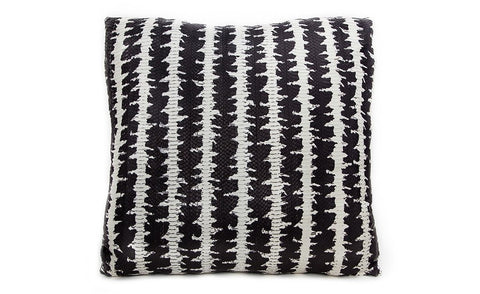 Isle of White Pillow, Matte Black and White Starburst Whipsnake