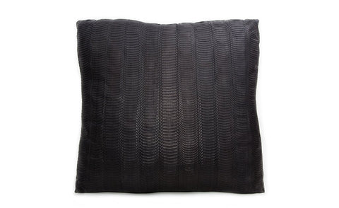 Isle of White Pillow, Matte Black Whipsnake