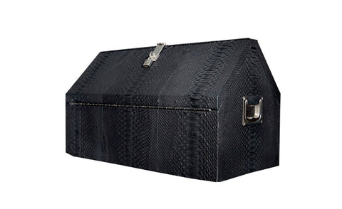 Waverly Toolbox or Jewelry Case, Matte Black Snakeskin