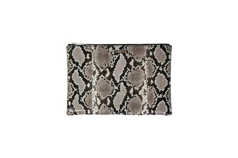 Harbor Island Clutch, Natural Snakeskin