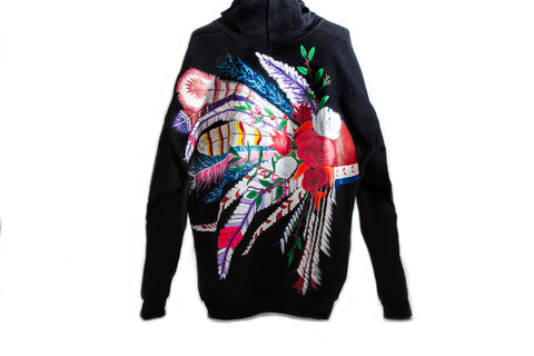 Indian Wells, Hand Painted Hoodie