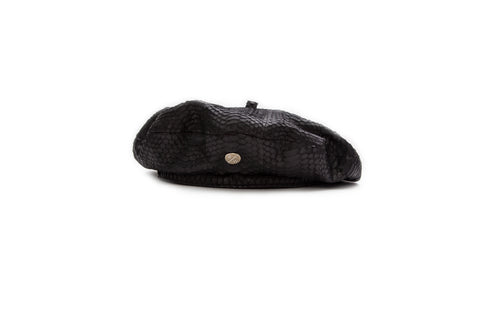 France Beret, Black Italian Watersnake