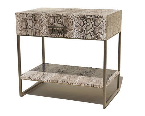Oxford Side Table, Natural Snakeskin