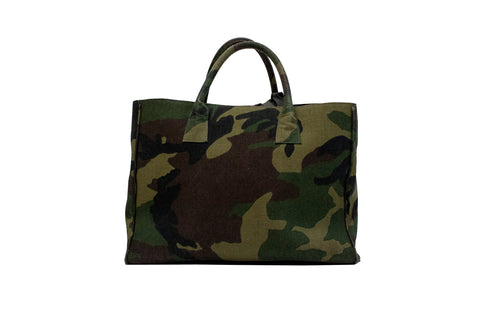 Belgravia Large Tote, Green Camo Canvas