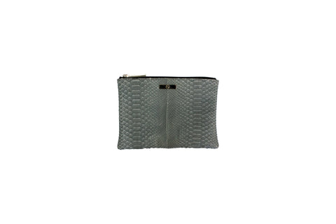 Harbor Island Mini Clutch, Smog Matte Snakeskin