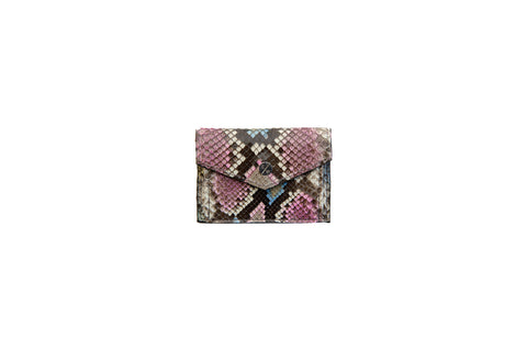 Provence Small Wallet, Pastel Snakeskin