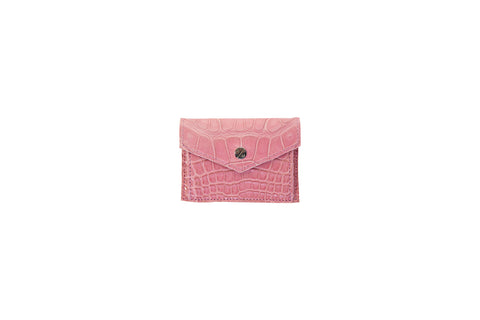 Provence Small Wallet, Pink Alligator Leather