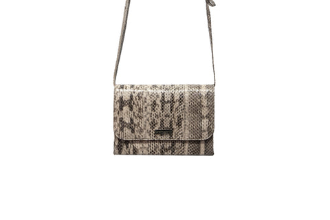 New Mexico Clutch/Cross Body, Natural Snakeskin
