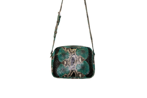 Venice Cross-Body, Gemstone Snakeskin