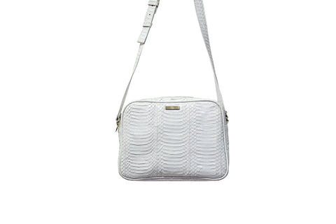 Venice Cross-Body, White Glazed Whipsnake
