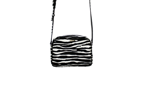 Venice Cross-Body, Zebra Print Calf Skin