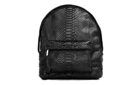 The Andes Backpack, Matte Black Snakeskin