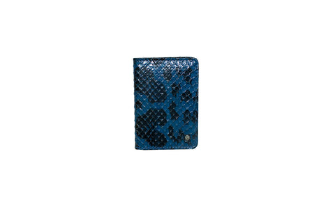 Panama Card Holder, Blue Anaconda