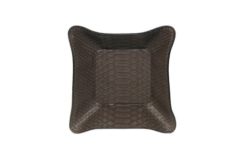 Quebec Travel Valet Large, Matte Brown Snakeskin