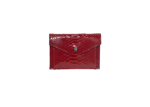 Provence Small Wallet, Cherry Glazed Snakeskin