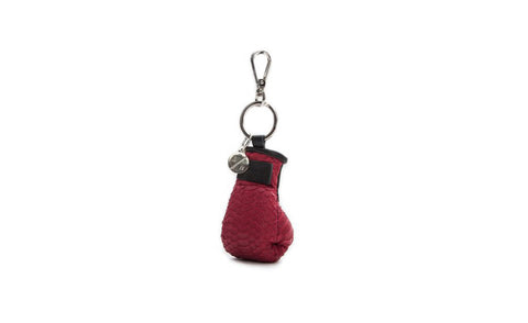 Manila Mini Keychain, Cherry Red Snakeskin