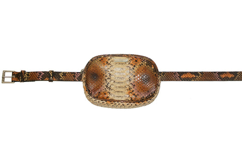 Avignon Fanny Pack with Belt, Citrus Snakeskin