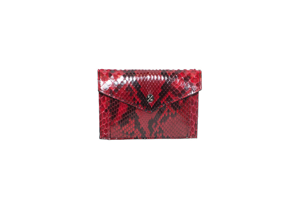 Provence Small Wallet, Diamond Red Snakeskin