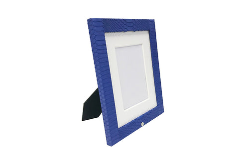 Camden Picture Frame, Electric Blue Snakeskin