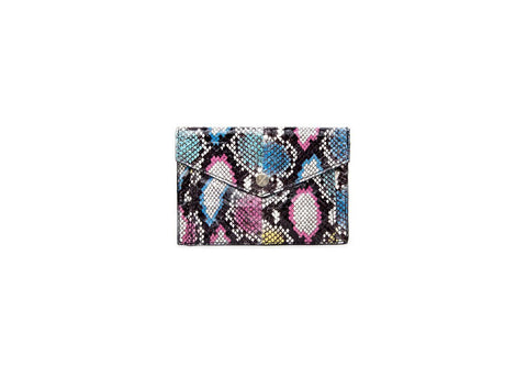 Provence Small Wallet, Multi-Colored Python Print Elaphe